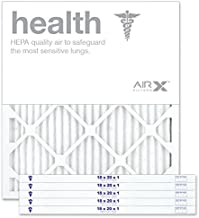 AIRx HEALTH 18x20x1 MERV 13 Pleated Air Filter - Made in the USA - Box of 6