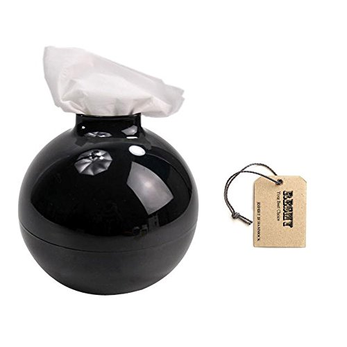 NA Home Accessories Fashion Bomb Form Papierhalter Home Decor Papiertopf WC Bad Tissue Holder Spender Box Cover Case (weiß)