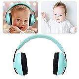Orejeras con cancelación de ruido Reducción de ruido Protección para los oídos Defensores Protección auditiva 25dB NRR Auriculares con cancelación de sonido para bebés(Verde)