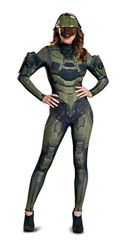 Disguise Disfraz de Lujo de Master Chief para Mujer Adulta, Verde, S (4-6) US