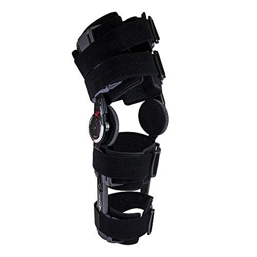 Donjoy Elite X-ACT Knee Brace Después de la cirugía o lesión Tratamiento y recuperación Ayuda del ligamento Tendón Cartilago (Menisco) Patella Daño y Reparación ACL MCL LCL PCL - ligero y ajustable