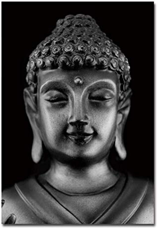 UPUPUPUP Buddha Canvas Art Joss Print Poster Meditation Zen Decorative Pictures Poster Retro Wall Pictures 2019,Tworidc550X70Cm Framed
