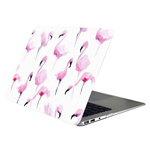 YMIX MacBook de 12 pulgadas con retina funda 2017 2016 2015, pintura al óleo delgada carcasa rígida mate suave protectora para modelo A1534 MacBook de 12 pulgadas con pantalla Retina, Flamingo