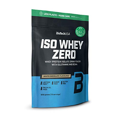 BioTechUSA Iso Whey Zero Premium Whey Protein Isolate with Native Whey Isolate, Added BCAA and glutamine, 1.816 kg, White Chocolate