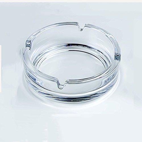 Sheng Cendrier en Verre de Cristal KTV Chambre Salon adapté pour la Maison 14cm (Taille : 14cm)