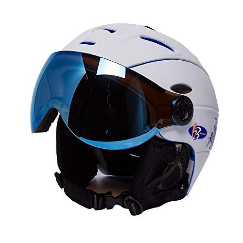 SKI Homme/Femme/Enfant Casque De, Lunettes Masque Snowboard Casque Moto Vélo Vélo Planche À roulettes De Motoneige Sport Sécurité,A,L