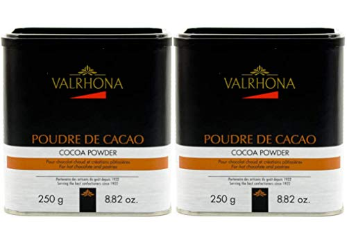 Valrhona 100% Pure Cocoa Powder (8.8 ounce) (Pack of 2)