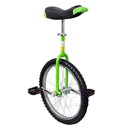 Monociclo Verde, Monociclo Regolabile Verde 20 Pollici/50,8 cm per Bambini/Adulti Monociclo Regolabile in Altezza