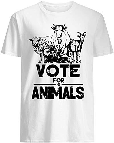 Vote for Animals 2020 President T-Shirt_White3XL011