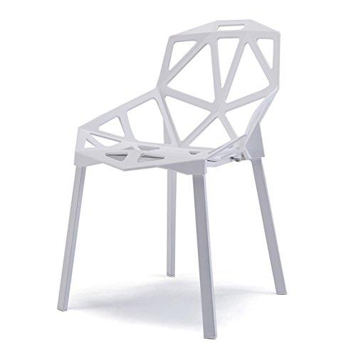 PLL Nordic Chair Modern Concise Iron Art Kunststof Rugleuning Buiten Creatieve Holle Eetstoel Barkruk