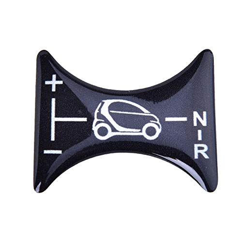 XMSM Für Smart 451 Fortwo Car Decoratio 3D Gel Autoaufkleber Für Brabus Schaltknauf Panel Dekoration Aufkleber Emblem Abzeichen Trim Dekorative Aufkleberabdeckung