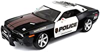 Dodge Challenger Concept Police (2006, 1/18 scale diecast model car, Black) 31365 by Maisto [並行輸入品]