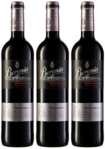 Beronia Graciano - Vino D.O.Ca. Rioja - 3 Botellas de 750 ml - Total : 2250 ml