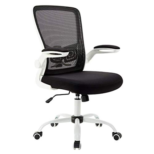 Office Chair Mesh Desk Chairs with Adjustable Armrests and Back Support Ergonomic Swivel Computer Chair for Home Office Study Gaming (Color : White)