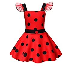 AmzBarley Ladybug Lady Bug Disfraz Niña Bebe Cumpleaños Mariquita ...