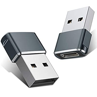 USB C Female to USB Male Adapter (2 Pack),Type C to USB A Charger Cable Adapter for iPhone 11 Pro Max,Airpods iPad 2018,Samsung Galaxy Note 10 S20 Plus 20 S20+ 20+ Ultra,Google Pixel 4 4a 3 3A 2 XL