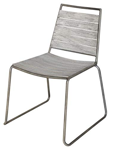 Salone-negozio-online Fauteuil Stone 2pz Acier et Bois 52 x 63 x 80h ameublement extérieur