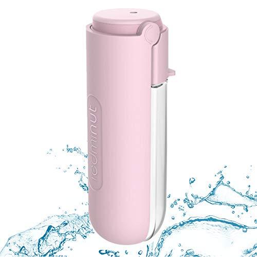 Dociote Botella de Agua para Perro, 420ml Botella Portátil de Agua Potable, para Mascotas para Caminar, Viajar al Aire Libre Senderismo Rosa