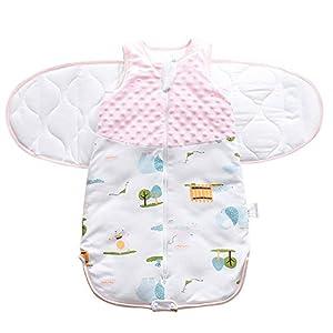 Saco de Dormir de Algodón Bebe Recién Nacidos Invierno Ajustable Swaddle Wrap Manta Unisex 2.5 TOG