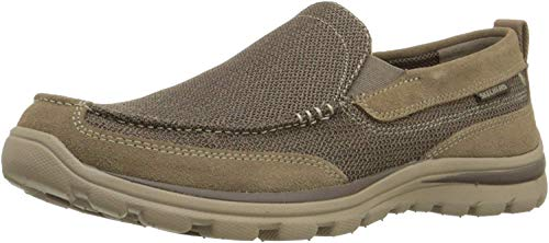 Skechers USA Men's Superior Milford Slip-on Loafer, Light Brown, 12 2W US