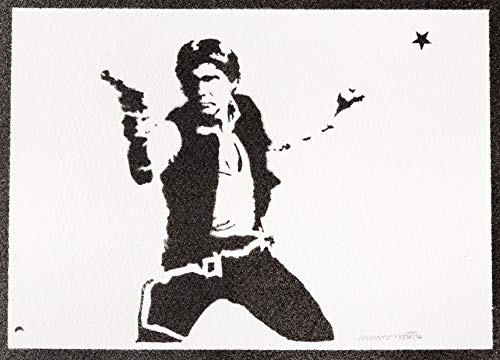 Poster Han Solo STAR WARS Grafiti Hecho a Mano - Handmade Street Art - Artwork