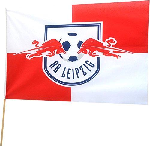 Flaggenfritze Stockflagge RB Leipzig - 60 x 90 cm, gratis Aufkleber