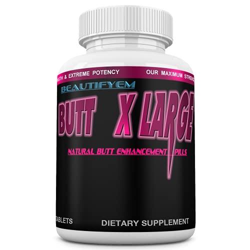 Butt X-Large Butt Enlargement, Booty Enhancement. Butt Enhancer Pills. Natural Bigger Glutes. 1 Month Supply