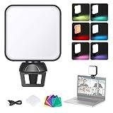 Neewer Kit de Iluminación para Videoconferencia con Abrazadera para Teléfono/Portátil/iPad, Iluminación con Zoom para Portátil, Filtros de Color para Videoconferencia/Trabajo Remoto
