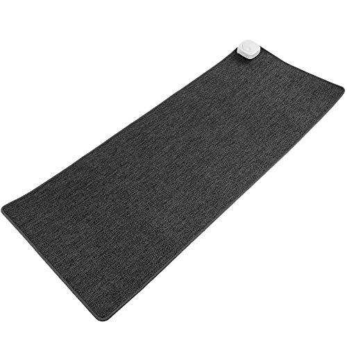 PrimeMatik - Heizteppich Thermisches Heizmatte Beheizter Teppich Pad-Schreibtisch dunkelgrau 80x32cm 77W