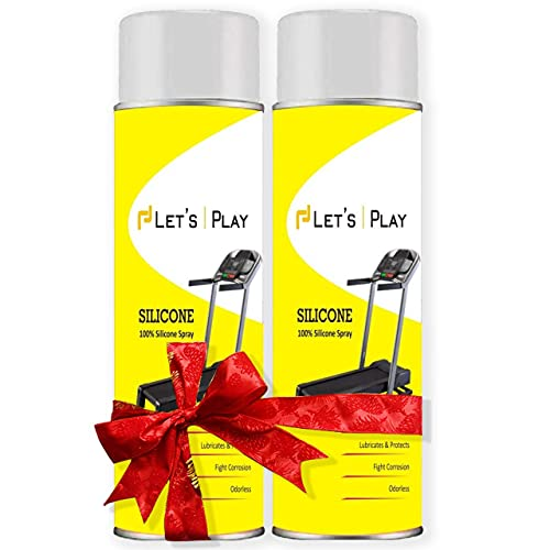 Let's Play®LP-284 Imported Silicon Oil Lubricant Spray for Treadmill (550 ml),to Smoothen & Servicing Belt and Baring for All Treadmills (Pair of 2)