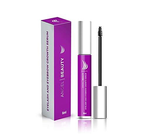 Angel Beauty Eyelash and Eyebrow Growth Serum Treatment - Cruelty-Free, Hypoallergenic, Sulfate-Free, Perfume-Free, Organic & Gluten-Free