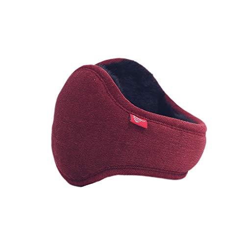 ZJ Warm halten Earmuffs Warm Earmuffs Earmuffs Mann-Winter Earmuffs Frauen im Freien Earmuffs Warm warm (Color : Red Wine Color)