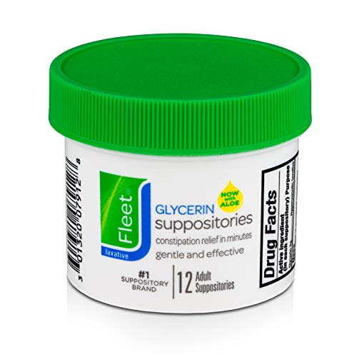 Fleet Laxative Glycerin Suppositories | 12 Suppositories in 1 Jar | Fast Constipation Relief in Minutes
