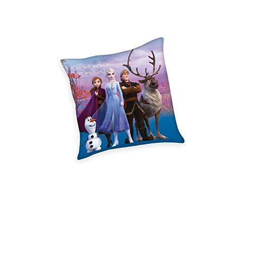 Herding Disney's Die Eiskönigin 2 Dekokissen, Polyester, Mehrfarbig, 40 x 40 cm