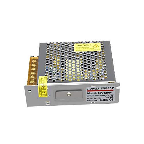 Gesh 120W 12V 10A Interruptor de Alimentación para Equipos Electrónicos de Iluminación Equipos de Monitoreo de Seguridad
