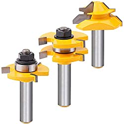 """top 10 tongue and groove router bits Tool set for tongue and slot milling cutters 3 flutes, adjustable 1/2 """"T shape…"""