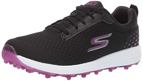 Skechers Women's Max Golf Shoe, Mesh Black/Purple, 7 M US