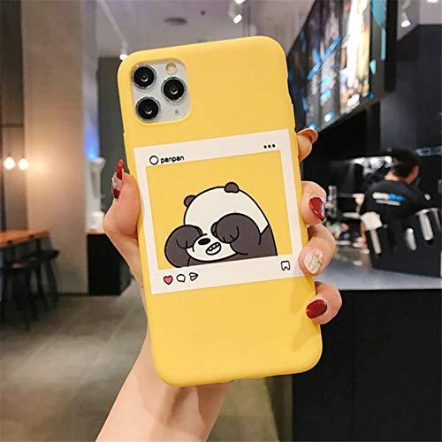 ZYMQ Dibujos Animados Lindo Oso Divertido Panda PANTEL Modelo Funda para teléfono para iPhone 11 Pro MAX X XS MAX XR 6 6S 7 8 Plus SE 2020 Retro,C,iPhone 12
