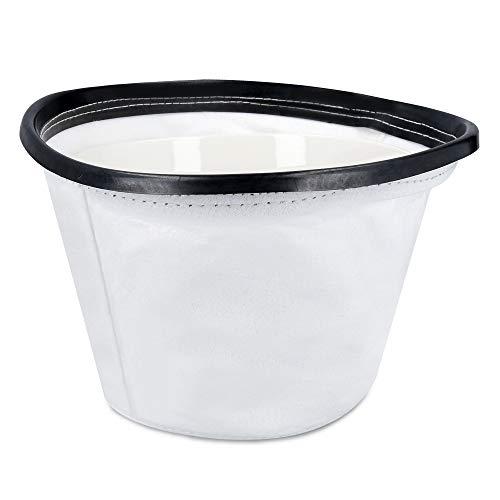Navaris Filtro Ricambio Aspirapolvere - Filtro a Imbuto Secchio Ø240-245mm - Accessori Aspira Polvere a Bidone - Cilindro Maglia Filtri Aspiracenere