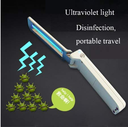 xxitemply Ultraviolet Disinfection lamp Sterilization lamp Portable UVC Handheld Folding USB Disinfection germicidal Flashlight