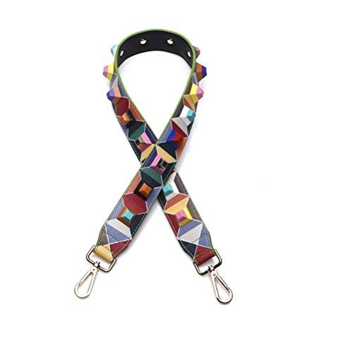 Umily Cinghia di spalla rimontabile Cinghie di Borsa Tracolla Manico In Sostituzione Crossbody 90cm-Rivetto colorato