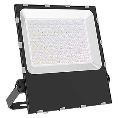 MORSEN 400W LED Flood Light Outdoor, Super Bright LED Stadium Lights with Plug, 40000LM 5000K Daylight White, IP66 Waterproof Outdoor Floodlights