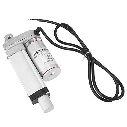 Multifunción 12v DC Pequeño Actuador Lineal Cilindro Movimiento de Elevación 50/100/150/250 / 300mm 150 KG 330 Libras de Peso Pesado Máximo Motor para Automatización Médica(50MM)