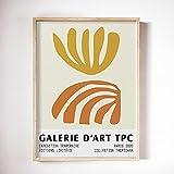Impresión de arte de algas abstractas, póster de museo, obra de arte abstracta, póster moderno de Matisse, arte de pared, lienzo sin marco, pintura A2 50x70cm