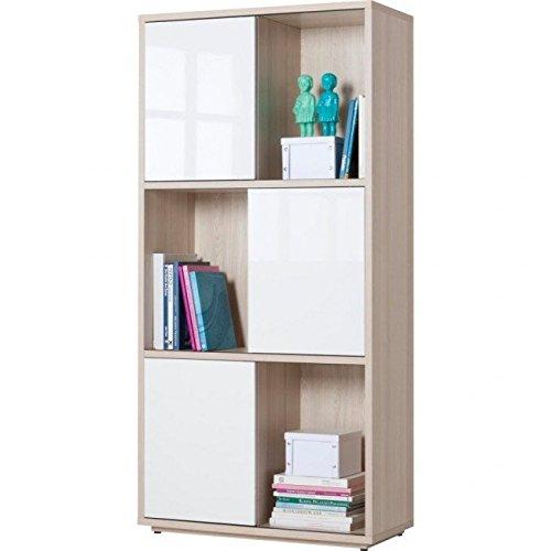 Composad lb2225k39904 0662375 librerie, Legno, Frassino E Laccato Bianco 399, 6 vani