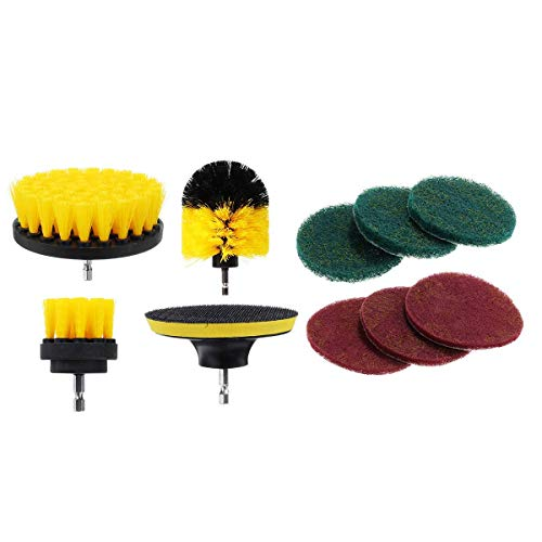 Power Scrubber Drill Brush Set Cleaner Spin Tub Shower Tile Grout Wall 4 Cleaning Brushes Shower Head