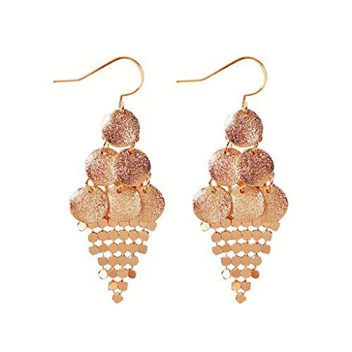 Garispace Long Drop Earrings For Women Bohemia Leaves Tassel Earrings Multilayer Sequins Simulated Pearl Beads Earring Set Statement Jewelry