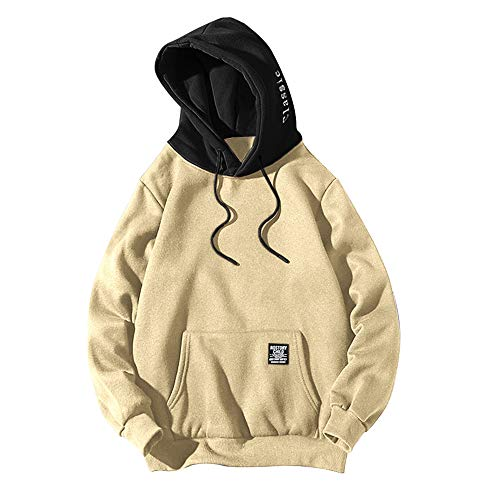 ZAFUL Sudadera Capucha Unisex Manga Larga Bloque Color