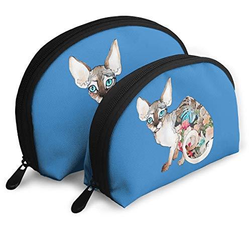 XCNGG Aufbewahrungstasche Cute Canada Cat Tragbare Reise Make-up Handtasche Wasserdichte Toilettenartikel Organizer Aufbewahrungstaschen
