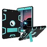 iPad Air Case, MAKEIT 3in1 Defender Hybrid Shockproof Kickstand Case for iPad Air